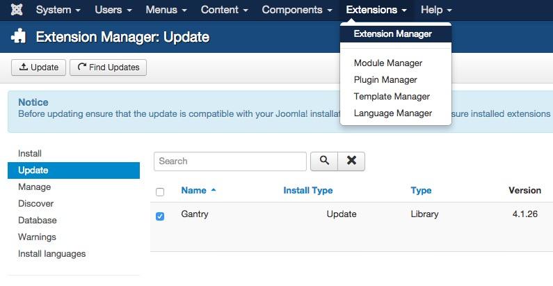 Upgrading | Gantry Documentation