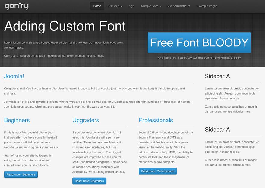 Adding a Custom Font | Gantry Documentation